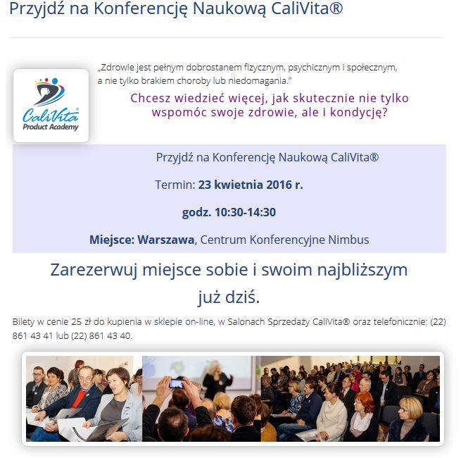 konferencja calivita
